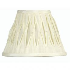 Ivory Pinched Pleat Fabric Lamp Shade 8 inch OAKS601/8IV - Oaks Lighting